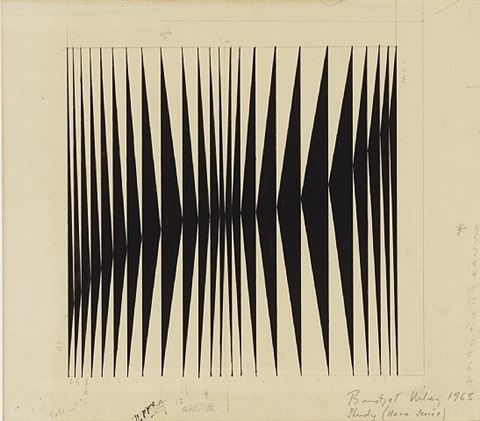 untitled [study for 'hero' series] by bridget riley